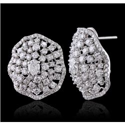14KT White Gold 4.43ctw Diamond Earrings