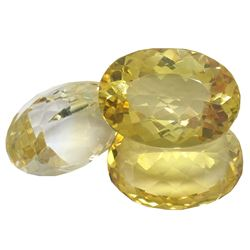 34.04ctw Oval Mixed Citrine Quartz Parcel
