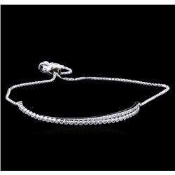0.75ctw Diamond Bracelet - 14KT White Gold