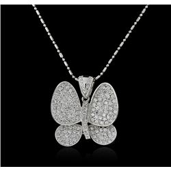 14KT White Gold 2.35ctw Diamond Pendant With Chain
