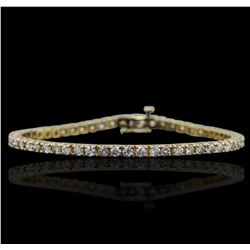 14KT Yellow Gold 4.91ctw Diamond Bracelet