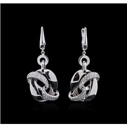 14KT White Gold 0.63ctw Diamond Earrings
