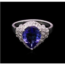 2.41ct Tanzanite and Diamond Ring - 14KT White Gold