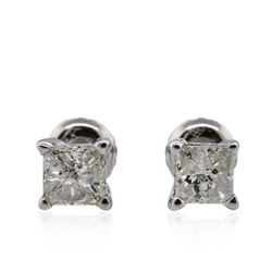 14KT White Gold 1.15ctw Diamond Solitaire Earrings