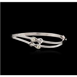 14KT White Gold 0.52ctw Diamond Bangle Bracelet