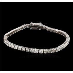 14KT White Gold 5.04ctw Diamond Tennis Bracelet