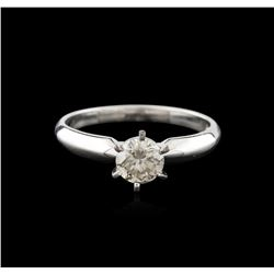14KT White Gold 0.85ct Round Cut Diamond Solitaire Ring