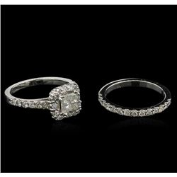 1.50ctw Diamond Wedding Ring Set - 14KT White Gold