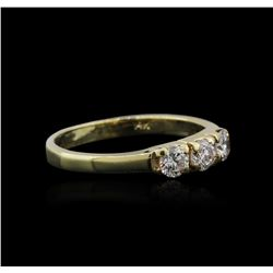 14KT Yellow Gold 0.30ctw Diamond Ring