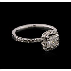14KT White Gold 1.06ctw Diamond Ring