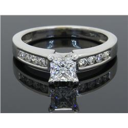 GIA Certified 1.00ctw Diamond Ring - 14KT White Gold