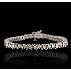 14KT White Gold 2.46ctw Diamond Tennis Bracelet