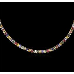 51.75ctw Multi-Gemstone Necklace - 14KT Yellow Gold