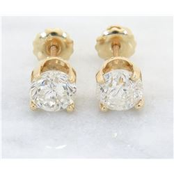 2.06ctw Diamond Stud Earrings - 14KT Yellow Gold