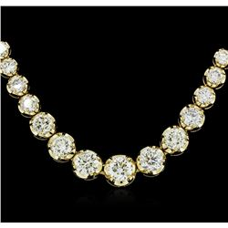 18KT Yellow Gold 17.01ctw Diamond Necklace
