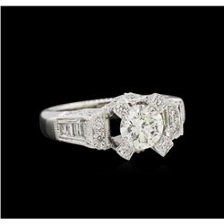 GIA Cert 2.01ctw Diamond Ring - 18KT White Gold