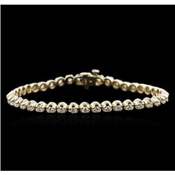 14KT Yellow Gold 3.35ctw Diamond Tennis Bracelet