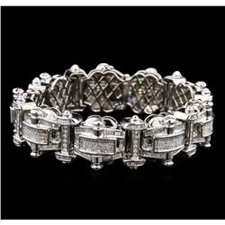 10.00ctw Diamond Bracelet - 14KT White Gold