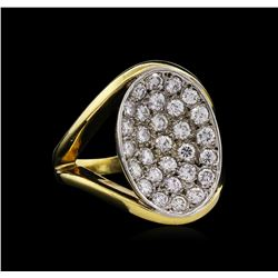 1.35ctw Diamond Ring - 18KT Two-Tone Gold