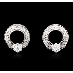 18KT White Gold 1.58ctw Diamond Earrings
