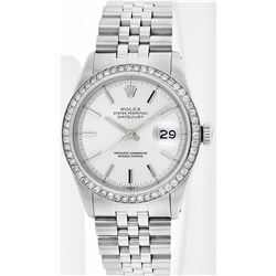 Rolex Stainless Steel 1.00ctw Diamond DateJust Men's Watch