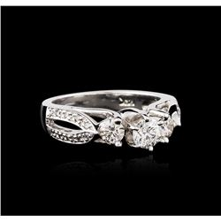 14KT White Gold 0.98ctw Diamond Ring