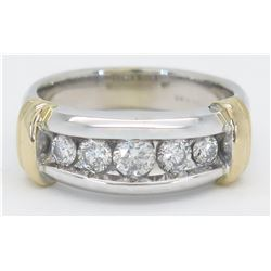0.75ctw Diamond Ring - 14K Two-Tone Gold