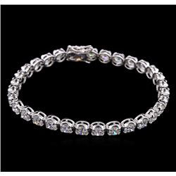 10.50ctw Diamond Tennis Bracelet - 18KT White Gold