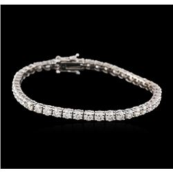 14KT White Gold 6.05ctw Diamond Tennis Bracelet
