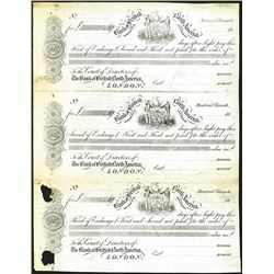 Bank of British North America, 18xx (ca.1840-60's) Proof Exchanges and Checks.