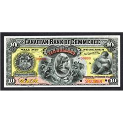 Canadian Bank of Commerce, 1892 Specimen Banknote.