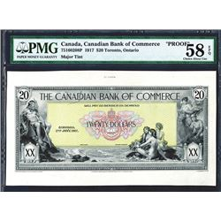Canadian Bank of Commerce, 1917 Proof Face Banknote.