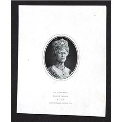 Canada. Queen Mary portrait proof as used on the Dominion of Canada 1924 $5. and 1925 $1000.