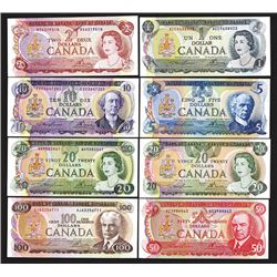 Bank of Canada. 1970s Denomination Set.