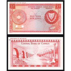 Central Bank of Cyprus, 1966-78 Issue Color Trial Banknote.