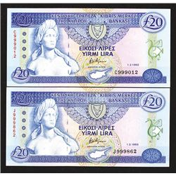 Central Bank of Cyprus. 1987-92 Issue.