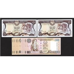 Central Bank of Cyprus. 1989-2004 Issues.