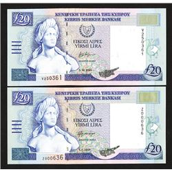 Central Bank of Cyprus. 1997-2001 Issue.