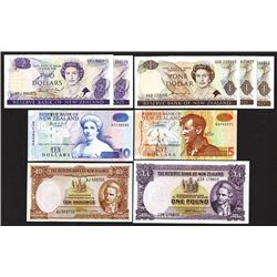 Reserve Bank of New Zealand. 1940, 1981, 1992 Issues.