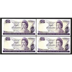 Reserve Bank of New Zealand. 1977 ND Issue. Replacement note group.
