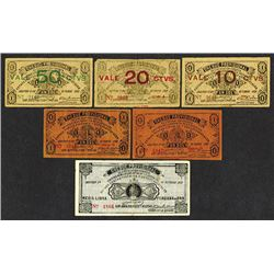 Guillermo Cervantes 1921 Cheque Provisional Issues.