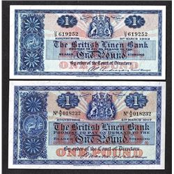 British Linen Bank. 1947, 1962 Issue.