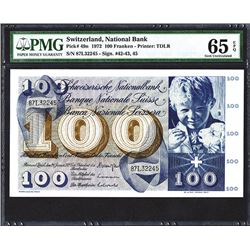 Banque Nationale Suisse. 1972 Issue.