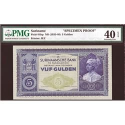 Surinaamsche Bank, ND (1935-40) Specimen Banknote