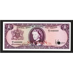 Central Bank of Trinidad & Tobago. 1964 Issue.