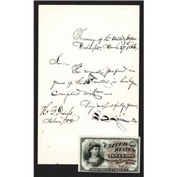 Francis Spinner letter and Fractional Note.