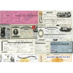 Group of Checks, notable, Cyrus Hall McCormick by Wm S. McCormick (older brother).