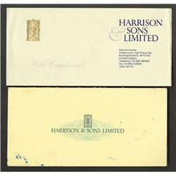 Harrison & Sons. Presentation folder with Coffee control or Northern Ireland Electric stamp samples.