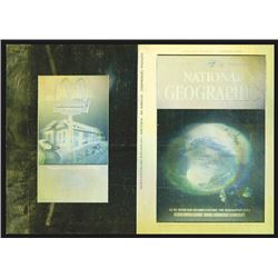 "ABNC, Unfolded Proof National Geographic Hologram Cover, ""Fragile Earth"" With Vintage Holographic Mc"