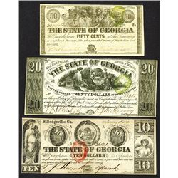 State of Georgia Obsolete Banknote. 1863-64.